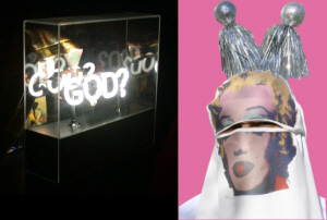 God? in neon 2001-2 and Marilyn Yashmak 2004