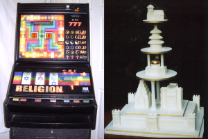 Interreligious Gambling Machine 2003 and Interreligious Wedding Cake 2003