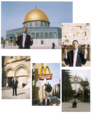 Business Messiah praying for case in Jerusalem 2005-6